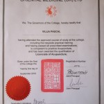 about me acupuncture diploma Hove brighton